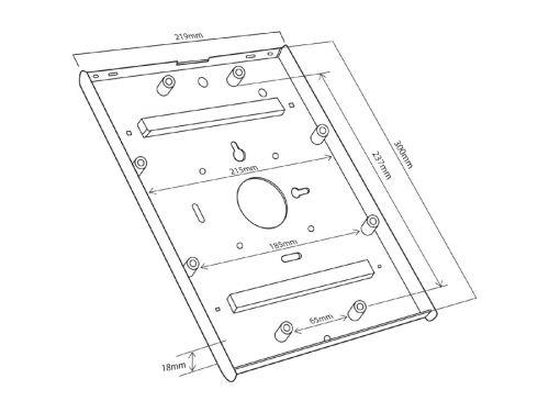 Skříňka na tablet u stojanu Fiber Mounts MC678B