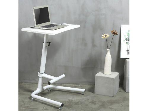 Bílý pracovní stolek na notebook, laptop