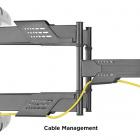 Systém pro vedení kabeláže na televizním držáku Fiber Mounts Super-2